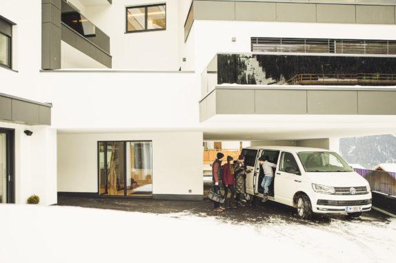 austria aparthotel fiss ankommen