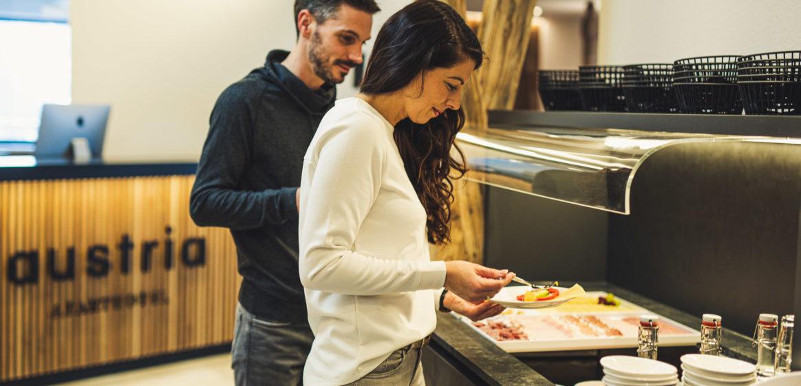 austria aparthotel fiss frühstück